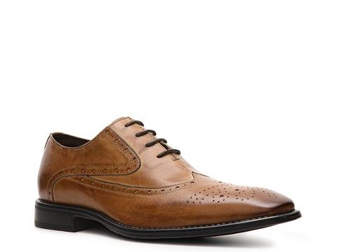 Pantofi J75 by Jump - Windsor Wingtip Oxford - Tan