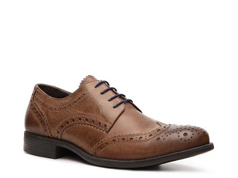 Pantofi Studio Ink - Neville Wingtip Oxford - Tan