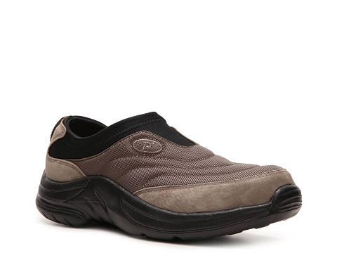 Adidasi Propet - Wash & Wear Slip-On Walking Shoe - Womens - Black/Brown