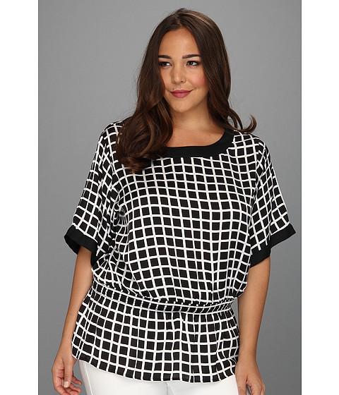 Tricouri MICHAEL Michael Kors - Plus Size Smocked Cold Shirt Top - White