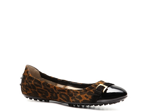 Balerini Tods - Tods Leopard Suede Ballet Flat - Leopard