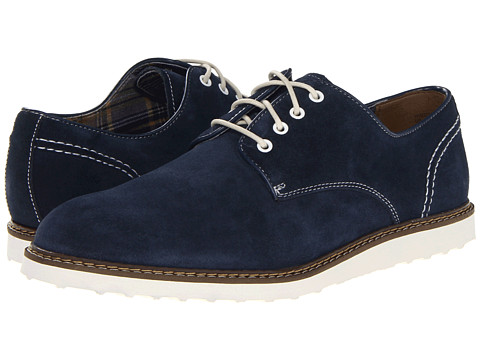 Pantofi Hush Puppies - Derby Wedge - Navy Suede