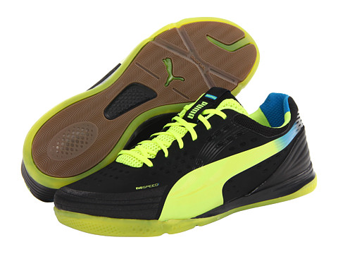 Adidasi PUMA - evoSPEED 1.2 Sala - Black/Fluo Yellow
