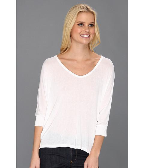 Bluze Splendid - Boxy U Neck Top - White