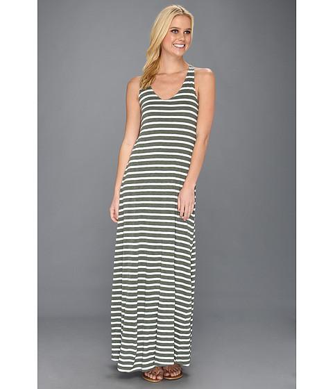 Rochii Splendid - White Stripe Maxi Dress - Camo Green