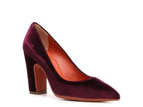 Pantofi Santoni - Velvet Pump - Purple