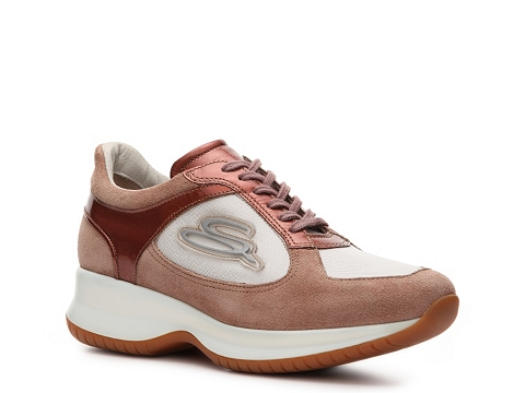 Adidasi Santoni - Suede Sneaker - Dusty Mauve/Pink