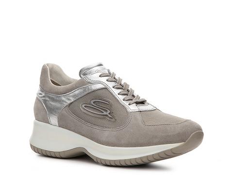 Adidasi Santoni - Suede Sneaker - Grey/Silver