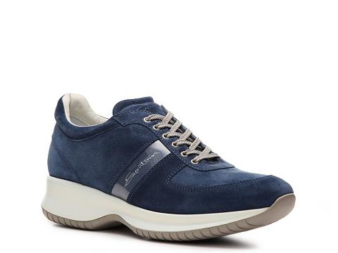 Adidasi Santoni - Suede Sneaker - Navy Blue