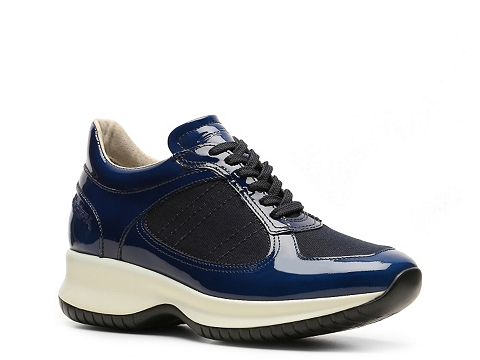 Adidasi Santoni - Patent Leather Sneaker - Navy Blue