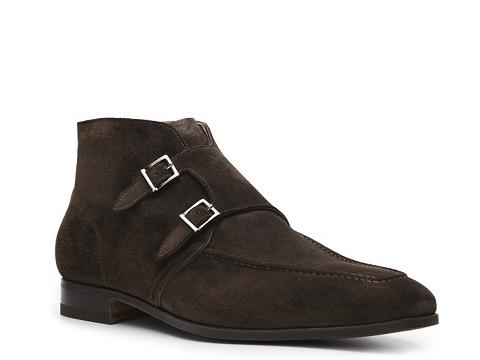Ghete Santoni - Suede Double Monk Boot - Brown