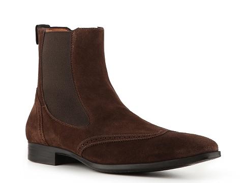 Ghete Santoni - Suede Wingtip Boot - Brown