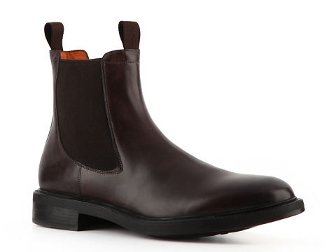 Ghete Santoni - Smooth Leather Burnished Boot - Brown