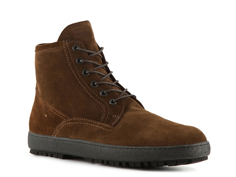 Ghete Santoni - Suede Plain Toe Boot - Brown