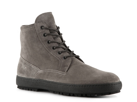 Ghete Santoni - Suede Plain Toe Boot - Grey