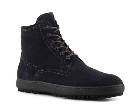Ghete Santoni - Suede Plain Toe Boot - Blue