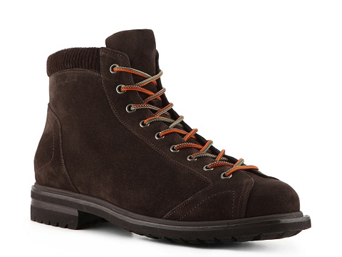 Ghete Santoni - Suede Work Boot - Chocolate