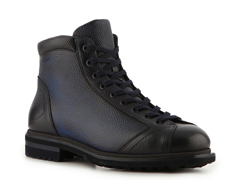 Ghete Santoni - Textured Leather Boot - Navy/Dark Blue