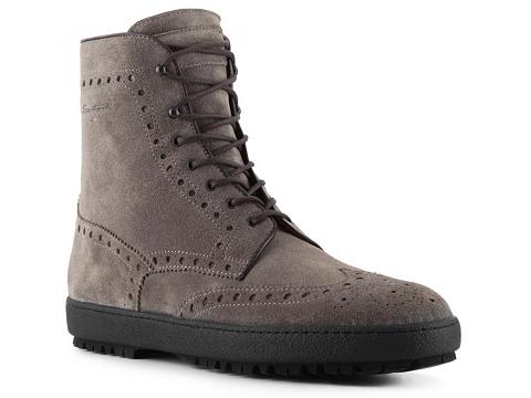 Ghete Santoni - Suede Wingtip Boot - Grey