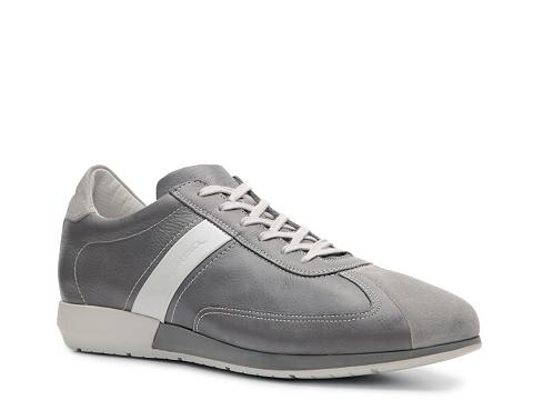 Pantofi Santoni - Leather & Suede Sneaker - Grey/White