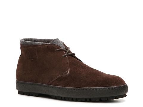 Ghete Santoni - Suede and Wool Chukka Boot - Brown