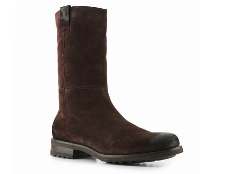 Ghete Santoni - Suede Riding Boot - Chocolate
