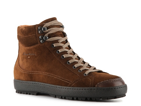 Ghete Santoni - Suede Mid Boot - Rust