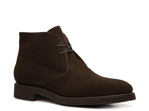 Pantofi Santoni - Goodyear Nubuck Blucher Boot - Espresso