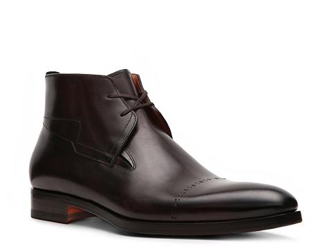 Pantofi Santoni - Leather Cap Toe Boot - Espresso
