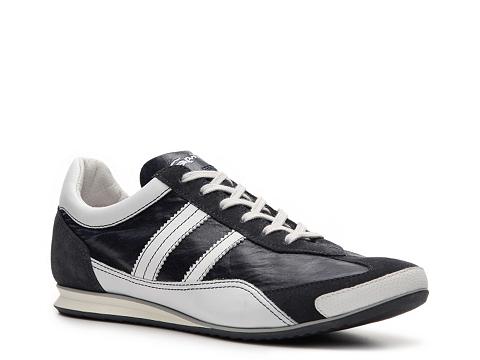 Pantofi Santoni - Leather & Suede Sneaker - Navy Blue/White