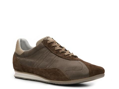 Pantofi Santoni - Leather & Suede Sneaker - Brown