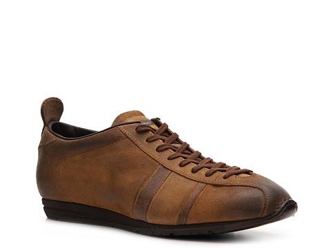 Pantofi Santoni - Distressed Suede Sport Sneaker - Tan/Brown