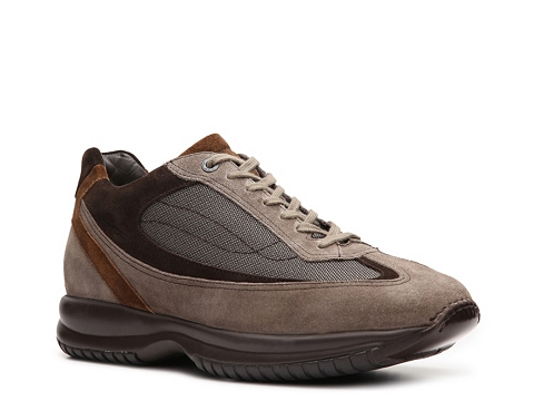 Pantofi Santoni - Suede & Canvas Sneaker - Taupe