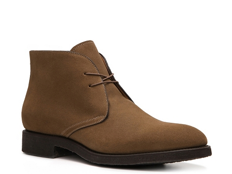 Pantofi Santoni - Goodyear Nubuck Blucher Boot - Taupe