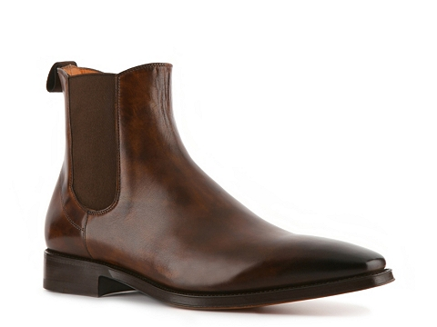 Ghete Santoni - Burnished Leather Boot - Brown