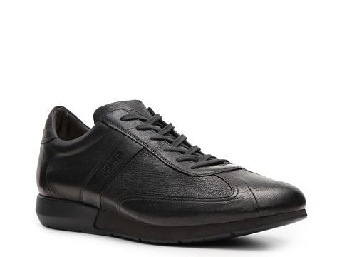 Pantofi Santoni - Textured Leather Sneaker - Dark Green