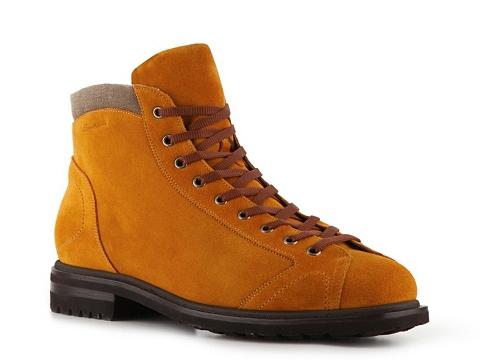 Pantofi Santoni - Suede & Canvas Boot - Harvest Gold