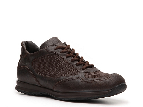 Pantofi Santoni - Canvas & Leather Sneaker - Chocolate Brown