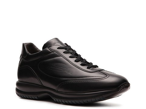 Pantofi Santoni - Leather Sneaker - Black