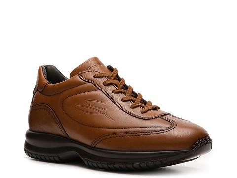 Pantofi Santoni - Leather Sneaker - Cognac