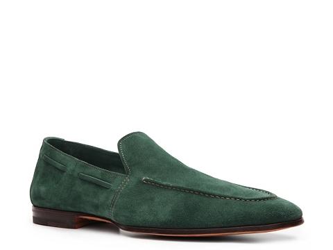 Pantofi Santoni - Suede Loafer - Dark Turquoise