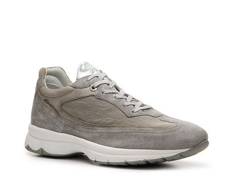 Pantofi Santoni - Suede & Canvas Sneaker - Grey