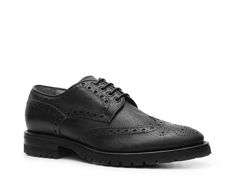 Pantofi Santoni - Leather Wingtip Oxford - Black