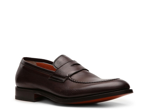 Pantofi Santoni - Leather Penny Loafer - Brown