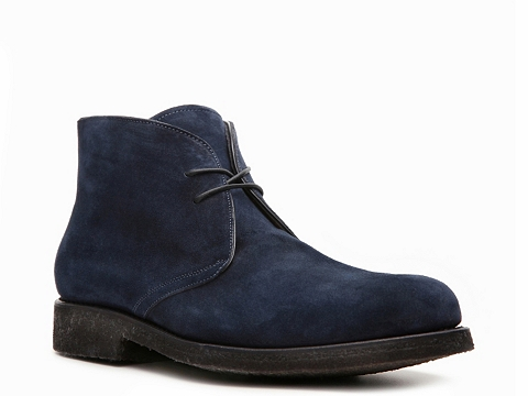 Ghete Santoni - Suede Blucher Boot - Midnight Blue