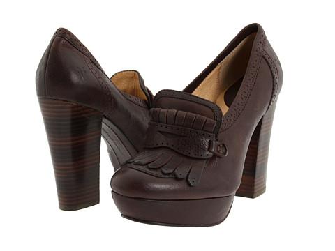 Pantofi Frye - Naiya Kiltie Moc - Dark Tumbled Full Grain