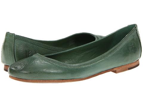 Balerini Frye - Carson Ballet - Green Antique Soft Full Grain