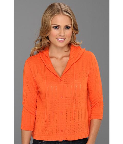 Bluze Christin Michaels - Taliia Hoodie Cardigan - Fresh Orange