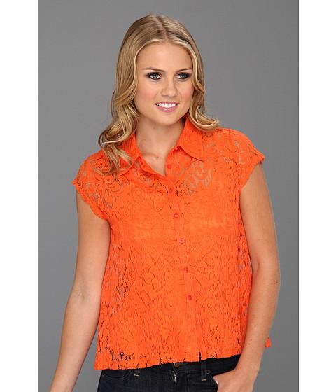 Tricouri Christin Michaels - Talsie A-line Lace Shirt - Fresh Orange