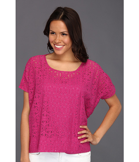 Tricouri Christin Michaels - Taum Lace Top - Persian Pink